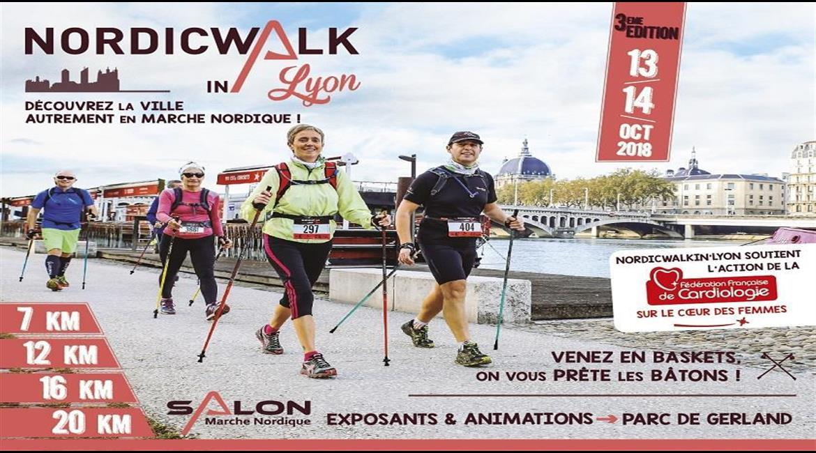 MARCHE NORDIQUE : NordicWalk'in Lyon