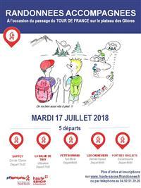 Montées aux Glières pour le Tour de France le 17/07/2018